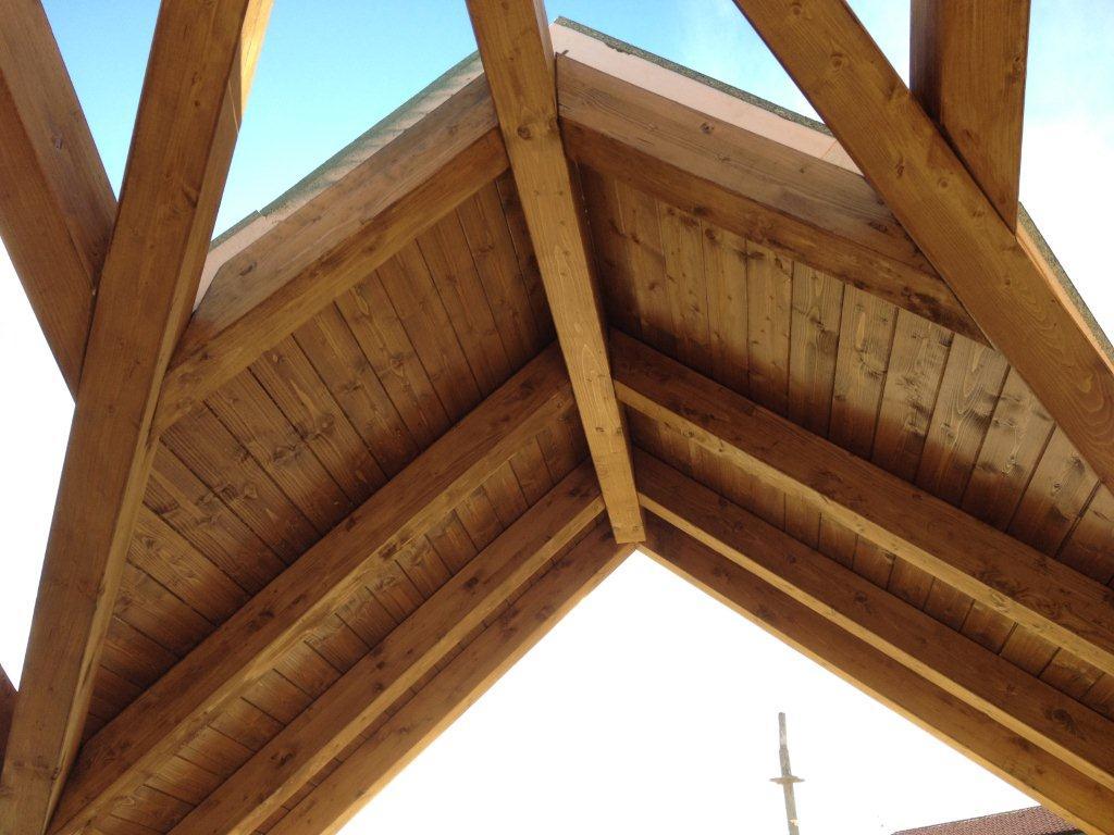 Techos sandwich imitacion teja cheap panel teja - Precio techo madera ...